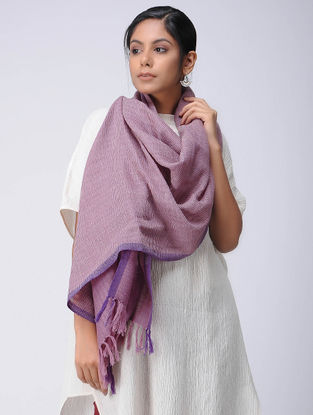 Purple Wool Linen Stole