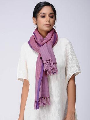 Pink-Purple Wool Linen Stole