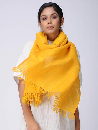 Yellow Wool Linen Stole