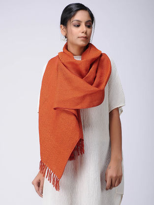 Red Wool Linen Stole