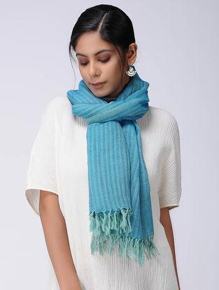 Blue Wool Linen Stole