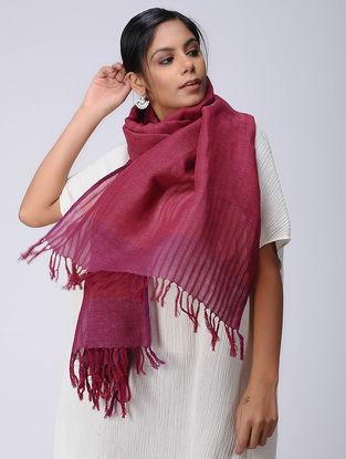 Pink Wool Linen Stole