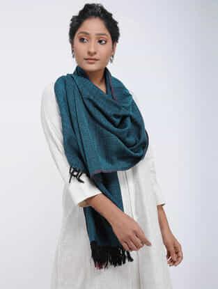 Blue Merino Wool Stole