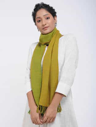 Green-Yellow Merino Wool Stole