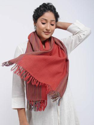 Red Merino Wool Stole