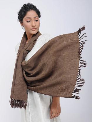 Brown Merino Wool Stole