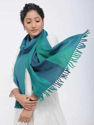 Blue-Green Merino Wool Stole
