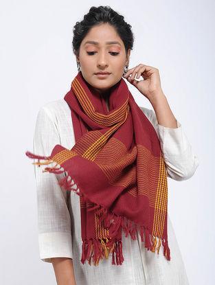 Red-Yellow Merino Wool Stole