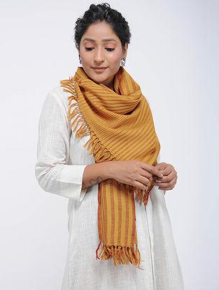 Yellow Merino Wool Stole