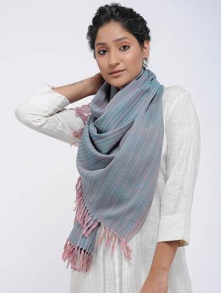 Blue-Pink Merino Wool Stole