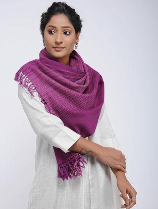 Purple Merino Wool Stole