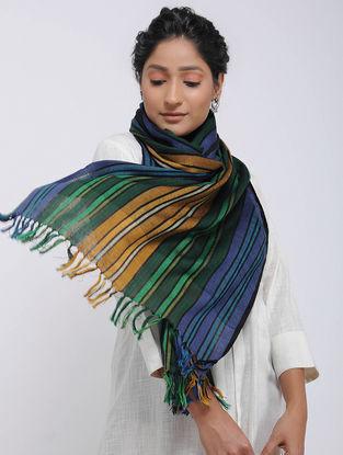 Green-Mustard Merino Wool Stole
