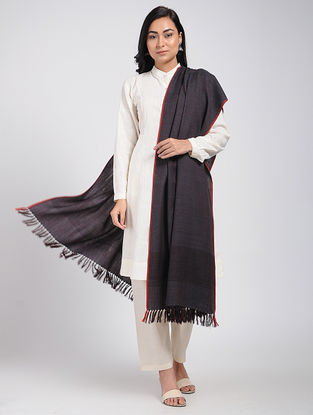 Black Merino Wool Shawl