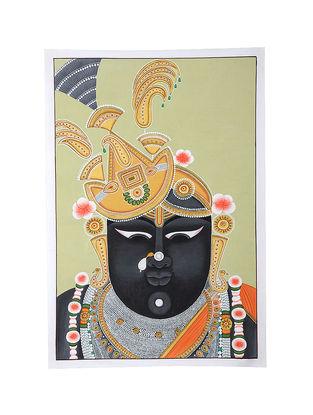 Shri Nathji Mix Media on Cotton (30in x 20in)