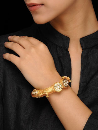 Gold Tone Kundan Inspired Bangle