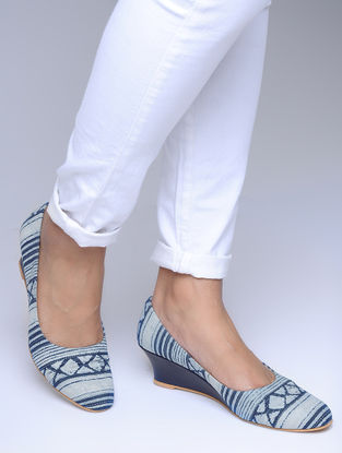 Indigo Printed Wedges