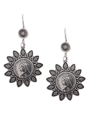 Tribal Coin Silver Earrings