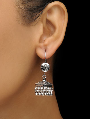 Classic Silver Jhumkis