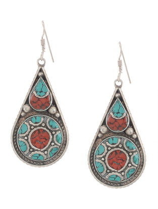 Turquoise-Orange Earrings