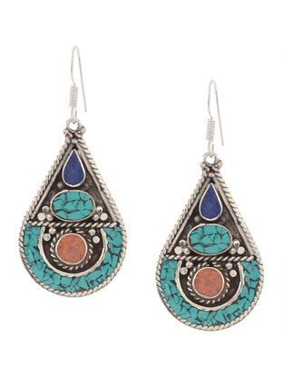 Blue-Orange Earrings