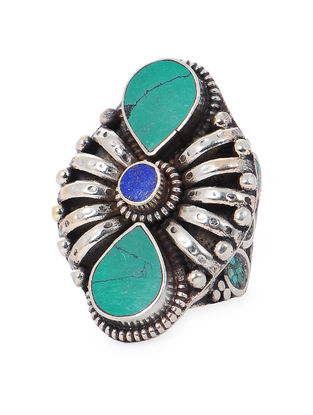 Turquoise-Blue Adjustable Ring