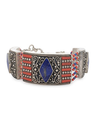 Red-Blue Beaded Bracelet