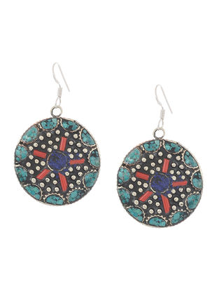 Turquoise-Red Earrings
