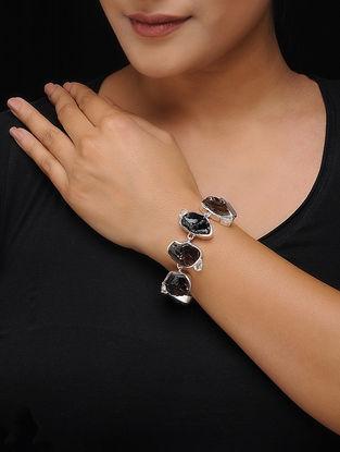 Smoky Quartz Silver Bracelet