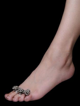Tribal Silver Adjustable Toe Ring