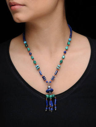 Lapis Lazuli and Turquoise Silver Necklace