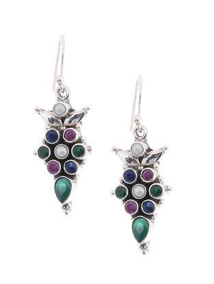 Multicolored Silver Earrings