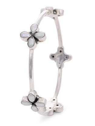 Pearl Silver Bangle (Bangle Size - 2/6 )