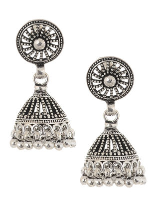 Tribal Silver Jhumkis
