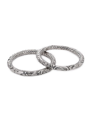 Tribal Silver Bangle (Bangle Size -2/12)