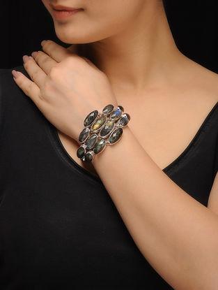 Black Rainbow Silver Bracelet