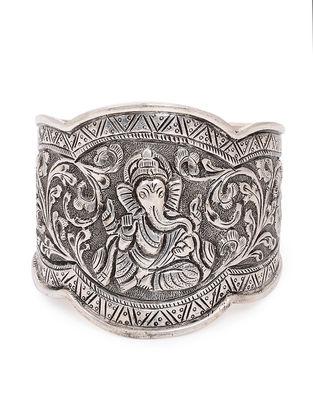 Tribal Silver Cuff with Deity Motif