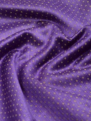 Purple-Yellow Handwoven Cotton Mashru Fabric