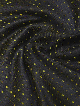 Black-Yellow Handwoven Mashru Fabric