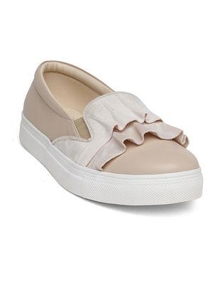 Cream Velvet Sneakers