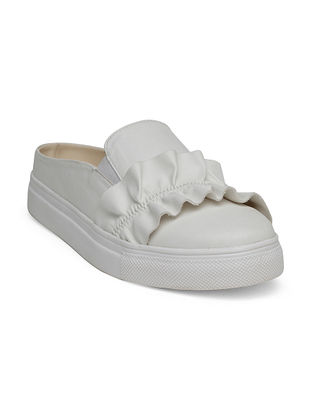 White Handcrafted Shoes
