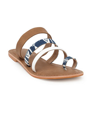 Blue-White Handcrafted Canvas Flats