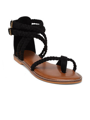 Black Handcrafted Sandals