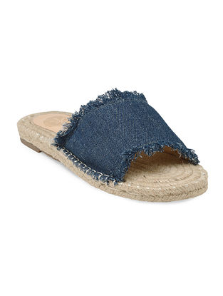 Blue Hand-Crafted Denim Flats