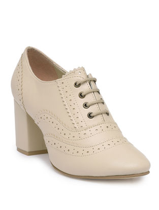Beige Handcrafted Brogues