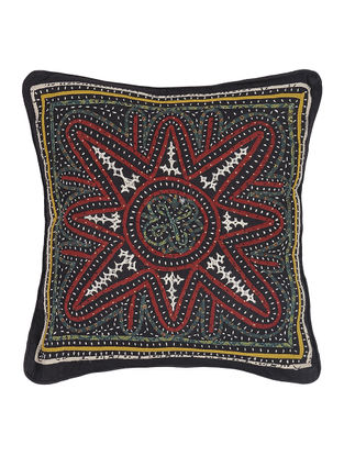 Buy an artisanal home kala raksha cotton cushion covers for Mirror 18 patch