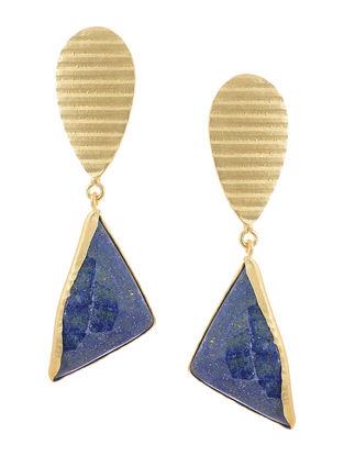 Lapis Lazuli Gold-plated Brass Earrings