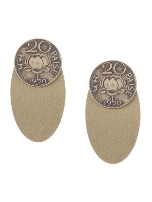 Classic Twenty Paisa Coin Brass Earrings