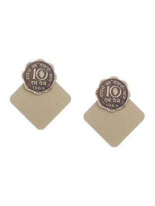 Classic Ten Paisa Coin Brass Earrings