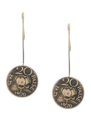 Classic Twenty Paisa Coin Earrings