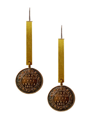 Classic One Anna Coin Brass Earrings